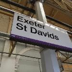 The nearest train station is St. David's. It is just 15 minutes walk