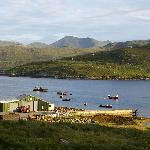 View from front of Ardhasaig House to West Tarbert