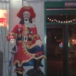 Captain Morgan Statue at Lucky B&#39;s