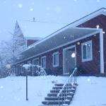  motel in winter