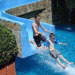 Boys on the Water Slide