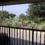 The view from our window our across to the beach.