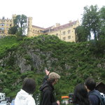 Getting some interesting information from the guide before going to the Neuschwanstein Castle
