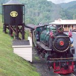 The Tweetsie Railroad train.