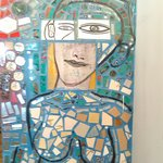 one of many portraits at the magic gardens