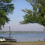 View from hotel of Chautauqua Lake