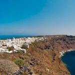 Panorama from Jimmy's showing the island with Manolas