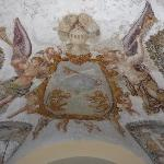 The ceiling in the main entrance