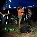 Caley Watts Band performing at the Mid Summer Night of Music- under the stars