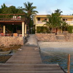 The Carib Inn from the boat dock