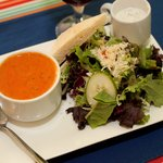 Try our soup and salad