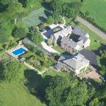 Glebe House from the air............