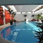 This is the roofed pool