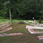 I nearly fell over these miniature golf things at night when I arrived.