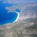 view of Olu Deniz from paragliding