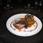 Veal tenderloin, potato cooked in duck fat, porcini and a mountain of truffles