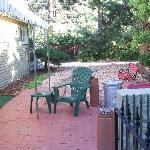 side yard w/patio, very peaceful!