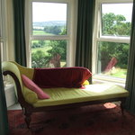  The recliner in the bay window of the William Morris Room