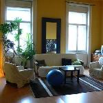  Sitting room at Mandragora Hostel, Budapest by Heather on her travels
