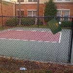 The dilapdiated sport court