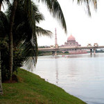 Putra Mosque can be seen afar.