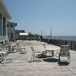deck at hotel - facing Delaware Bay
