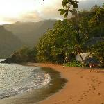 Laka Lodge's private beach
