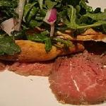  Beef carpaccio balsamic, arugula