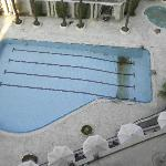  Swimming pool being cleaned/re-grouted