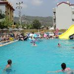 Big Pool and slide - And NOT cloudy or dirty