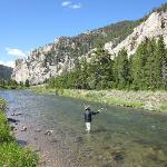 My Husband on the Gallatin River