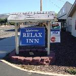  Sign out front of hotel