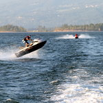  Columbia River Jet Boat - jet skier jumping our wake!