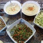 Hummus and tabouli - go for it!