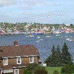View of Lunenburg from deck.