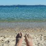  Les pieds dans l&#39;eau
