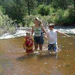 us in the St. Vrain River