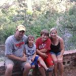  Our family at one of the locals cabin overlooking the St Vrain River