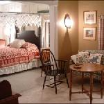 all suites have a sitting room, bedroom, and private bathroom