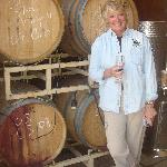 The owner Jeanne with her wine