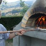  Chris cooking pizza