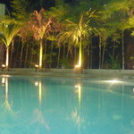 Eureka Villa Pool at Night