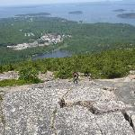 Burning off breakfast on Champlain Mountain