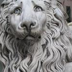Lion outside church