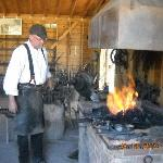 Working blacksmith shop