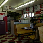 Interior of Bona Pizza