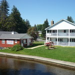  View of the B&amp;B and Canoe hire place