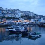 Brixham at night.