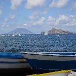 View from Panarea to Stromboli, great day out.