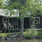 One of our waterfront cabins